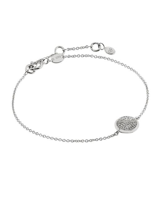 Links of London | White Diamond Essentials Pave Round Bracelet | Lyst