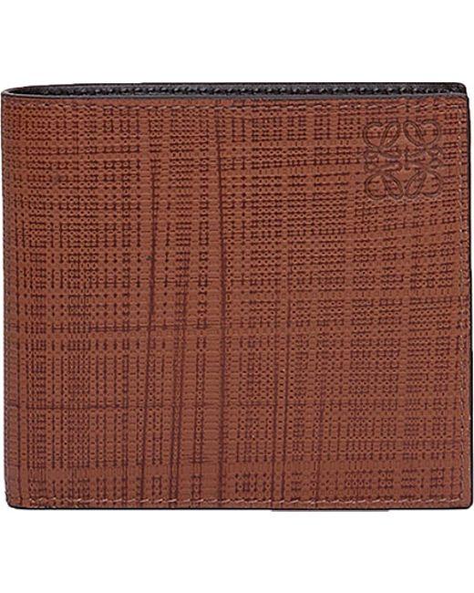 Loewe | Brown Bi-fold Leather Wallet for Men | Lyst