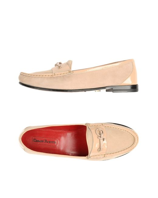 Cesare Paciotti | Natural Moccasins | Lyst