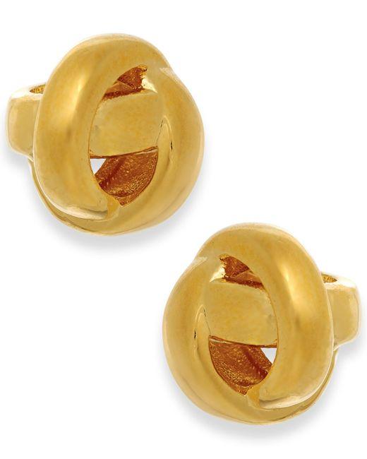 Kate Spade | Metallic Gold-tone Knot Stud Earrings | Lyst