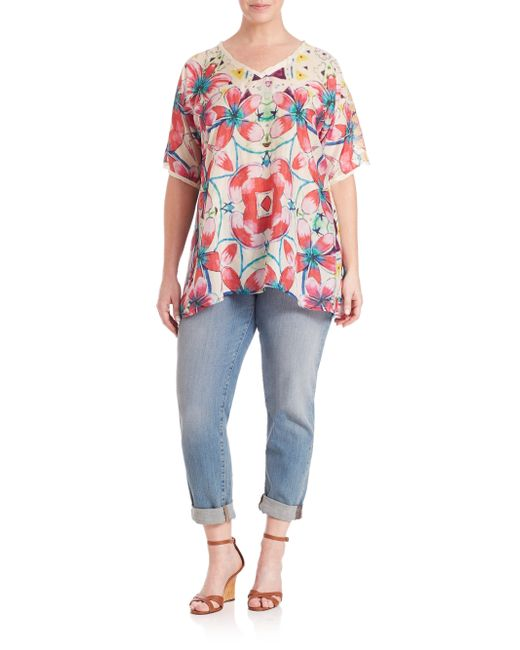 Johnny was augustine print silk dolman blouse in for Johnny was silk shirt