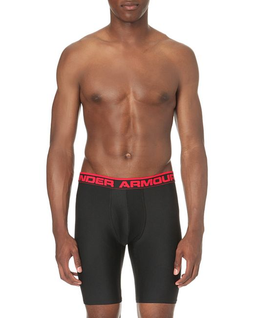Under Armour | Black Original Branded Stretch-jersey Boxer Briefs for Men | Lyst
