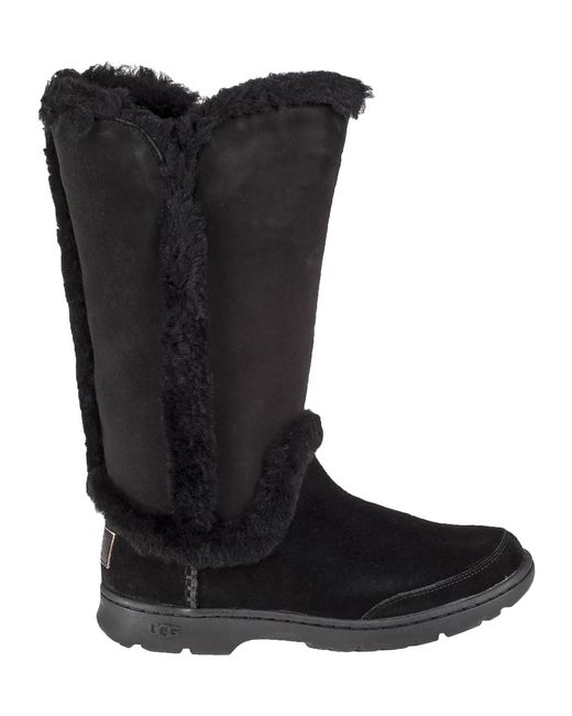 ugg katia waterproof suede boots in black black suede lyst