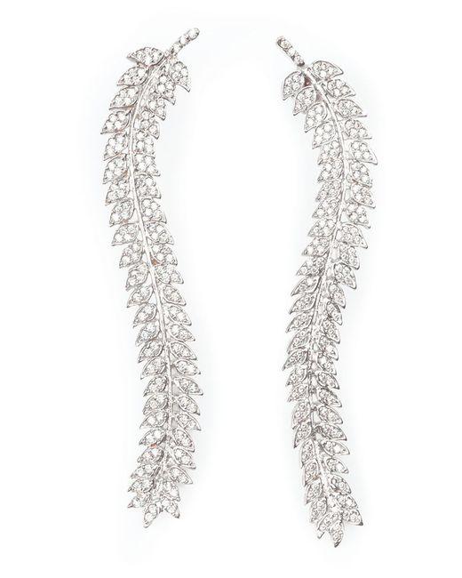 Joanna Laura Constantine | Metallic Encrusted Leaves Earrings | Lyst