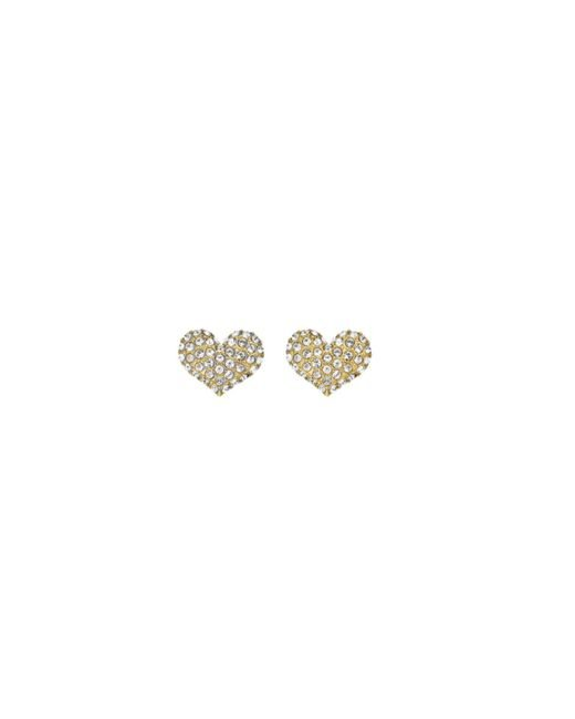 Guess   Metallic Basic Instinct E-mini Heart Stud Gold-plated Earrings   Lyst