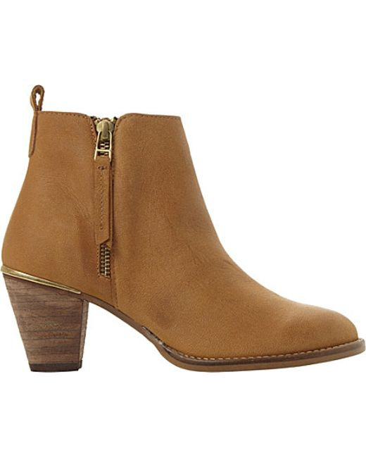 steve madden suede ankle boots in brown leather lyst