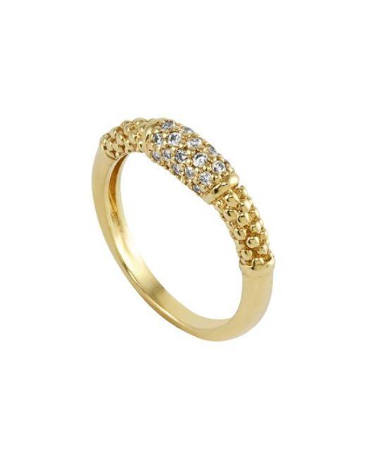 Lagos | Metallic Caviar Diamond Ring | Lyst