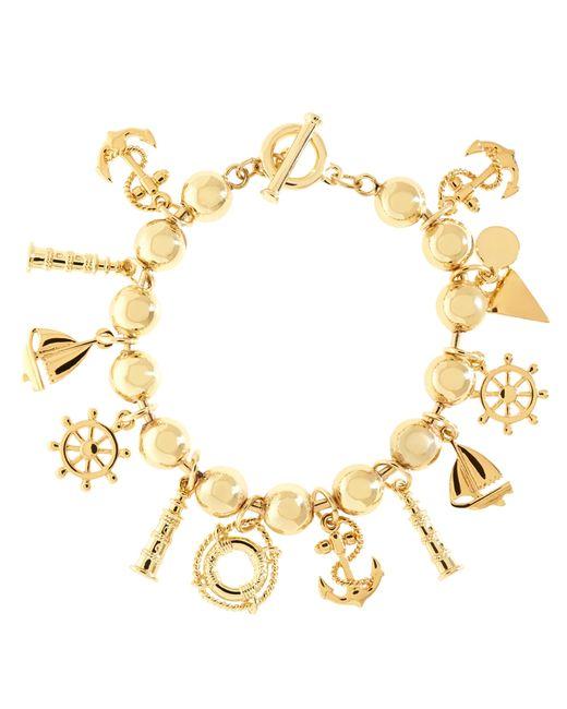 Brooks Brothers | Metallic Multi Pendant Bracelet | Lyst