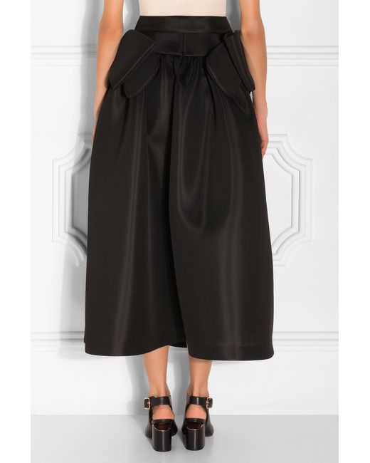 rocha bow embellished midi skirt in black lyst