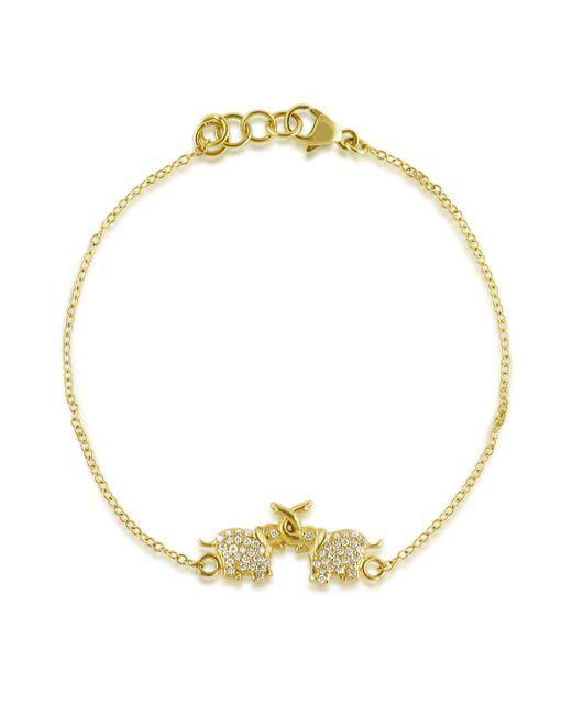 Emily & Ashley | Yellow Diamond Elephant Bracelet | Lyst