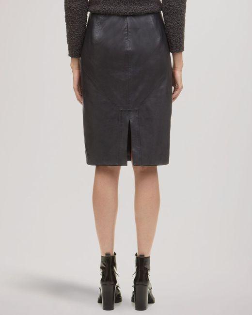 whistles skirt kel leather pencil in black lyst