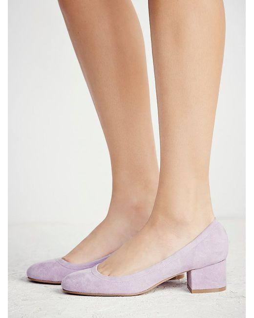 Lavender Kitten Heel Shoes