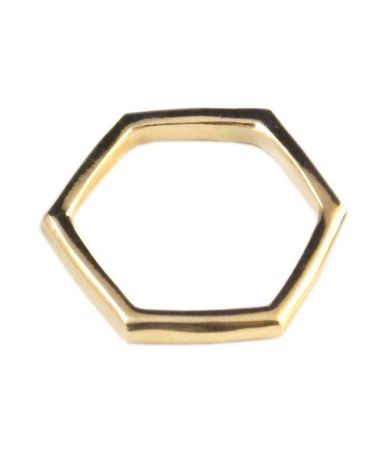 Jill Golden | Metallic Hexagonal Ring | Lyst