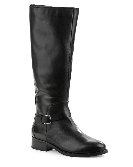 cole haan sonna leather knee high boots in black save 30