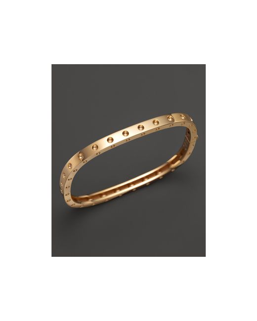 Roberto Coin | 18k Yellow Gold Pois Moi Single Row Bangle | Lyst