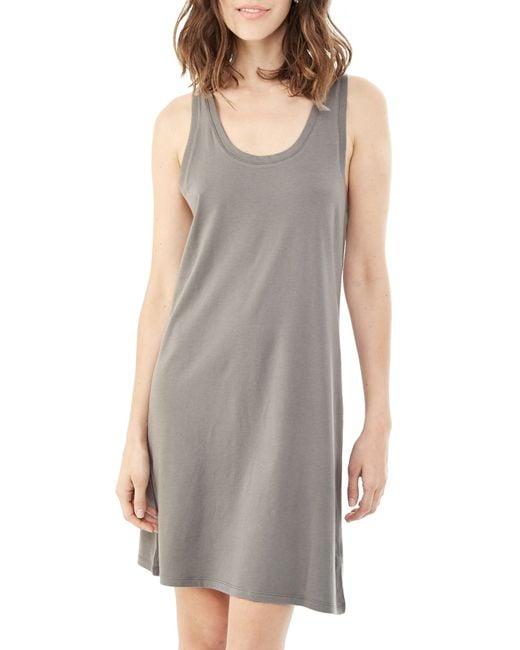 Alternative Apparel | Metallic Effortless Cotton Modal Tank Dress | Lyst