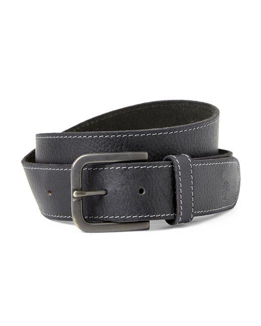 Timberland | Black Adjustable Stitch Leather Belt for Men | Lyst