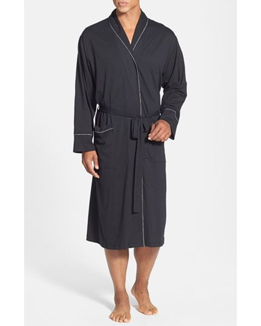 Daniel Buchler Peruvian Pima Cotton Robe In Black For Men