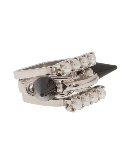 Joomi Lim | Metallic Set Of 3 Crystal & Spike Ring | Lyst