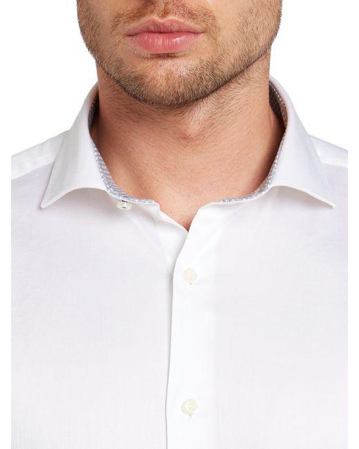Ted Baker | White Rosest Slim Fit Plain Poplin Shirt for Men | Lyst