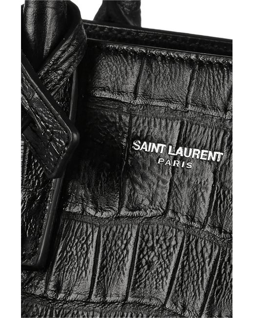 ysl leather bag - Saint laurent Sac De Jour Nano Croc-Effect Leather Shoulder Bag in ...