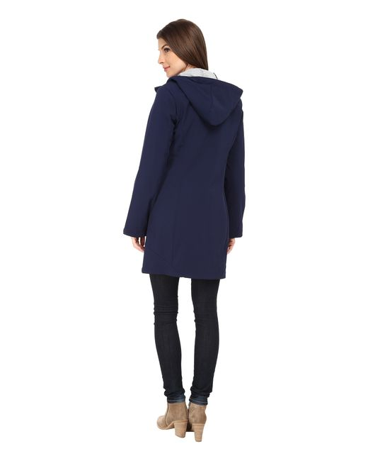 Calvin Klein | Blue Zip Front Soft Shell Coat W/ Jersey Lining | Lyst