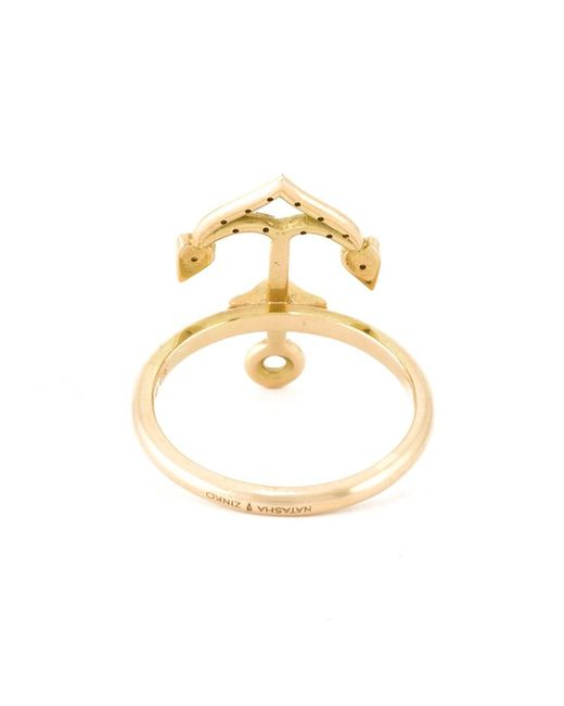 Natasha Zinko | Metallic Anchor Ring | Lyst