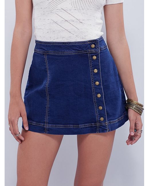 Free People | Blue Keep On Rocking Asymmetrical Skirt | Lyst