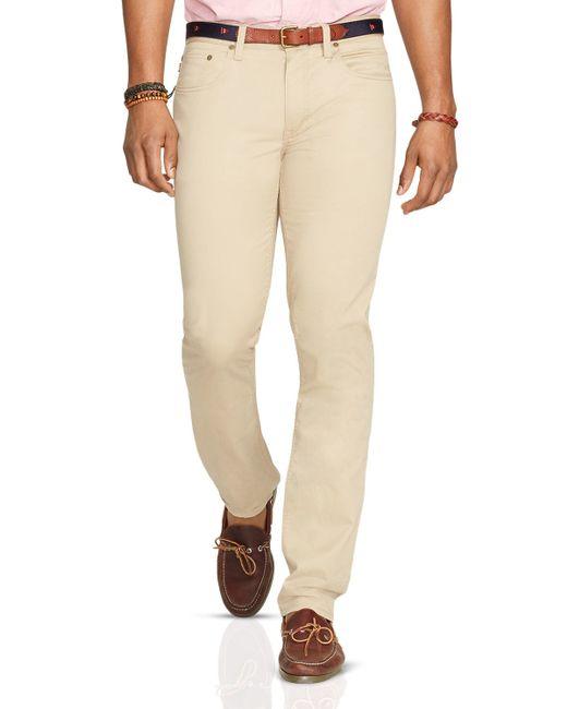 Polo Ralph Lauren   Natural Varick Five Pocket Slim Fit Pants for Men   Lyst