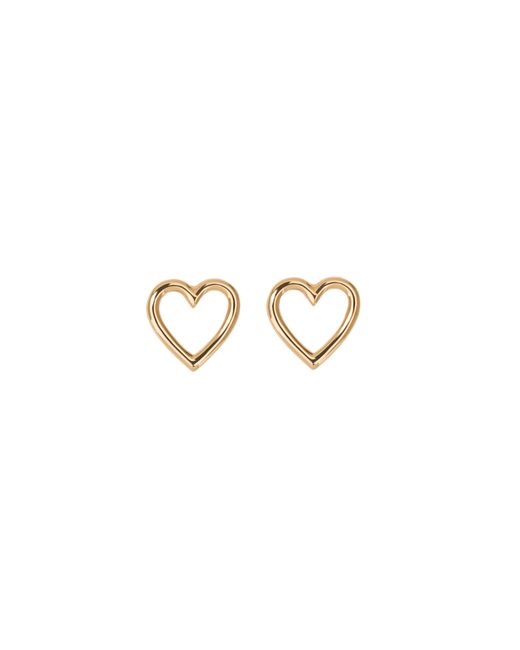Aurelie Bidermann | Metallic Fine Jewellery - 18k Love Single Earring With Diamond | Lyst