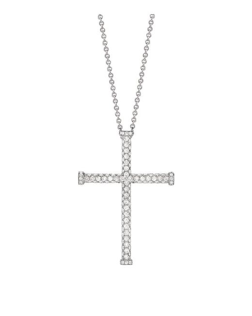 Theo Fennell | White Diamond Blaze Cross Pendant | Lyst