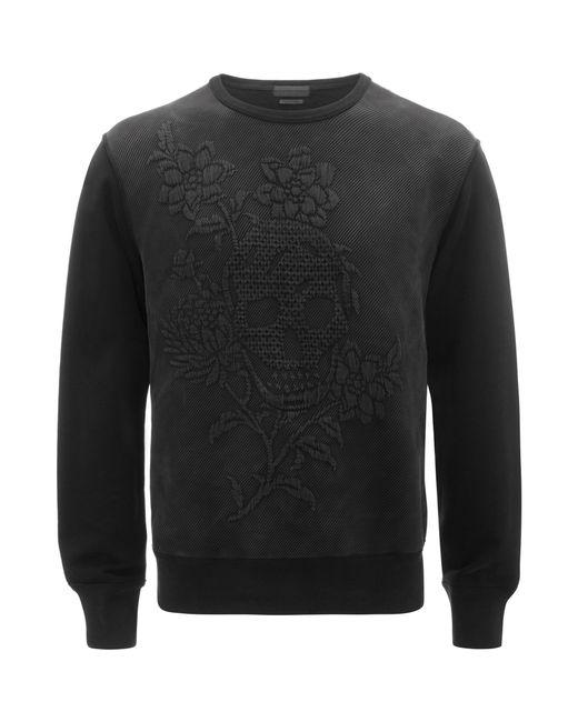 Alexander McQueen   Black Jacquard Sweatshirt for Men   Lyst