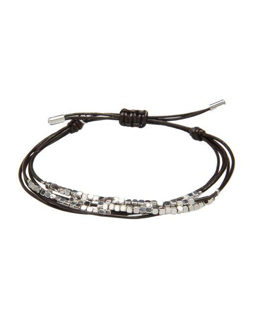 Fossil | Black Bracelet | Lyst