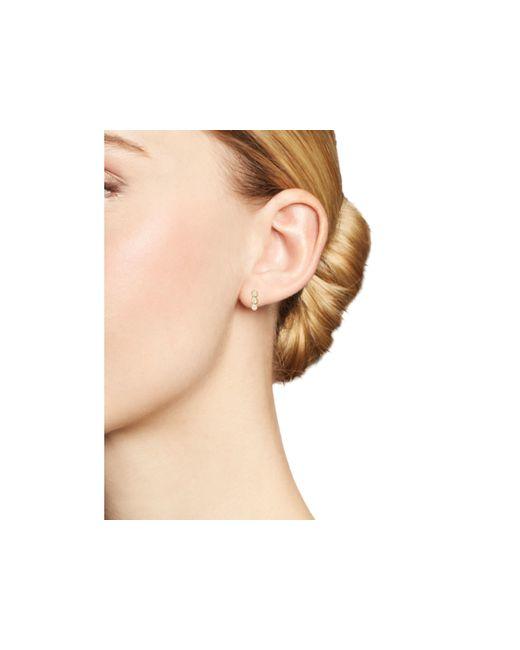 Zoe Chicco   Metallic 14k Yellow Gold And Diamond Bezel-set Trio Earrings   Lyst