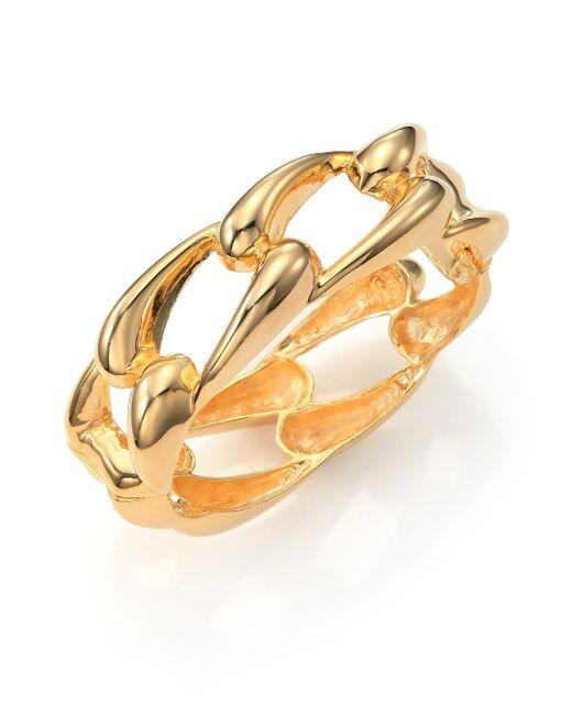 Kenneth Jay Lane   Metallic Link Bangle Bracelet   Lyst