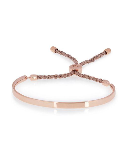 Monica Vinader | Metallic Fiji Rose Goldplated Bracelet | Lyst