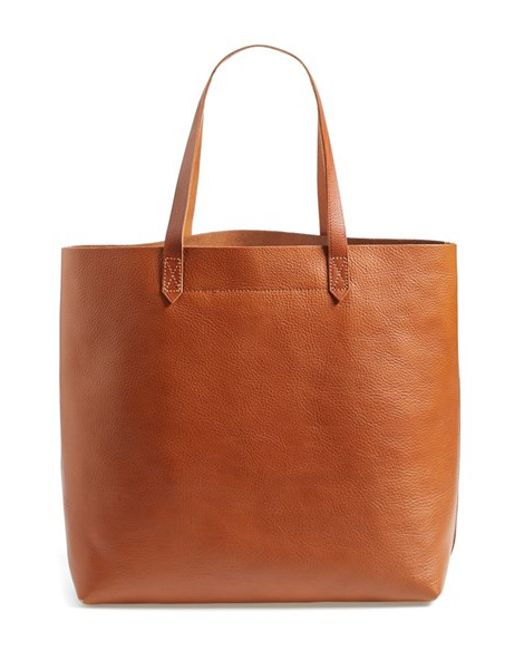 Madewell   Brown 'the Transport' Leather Tote   Lyst