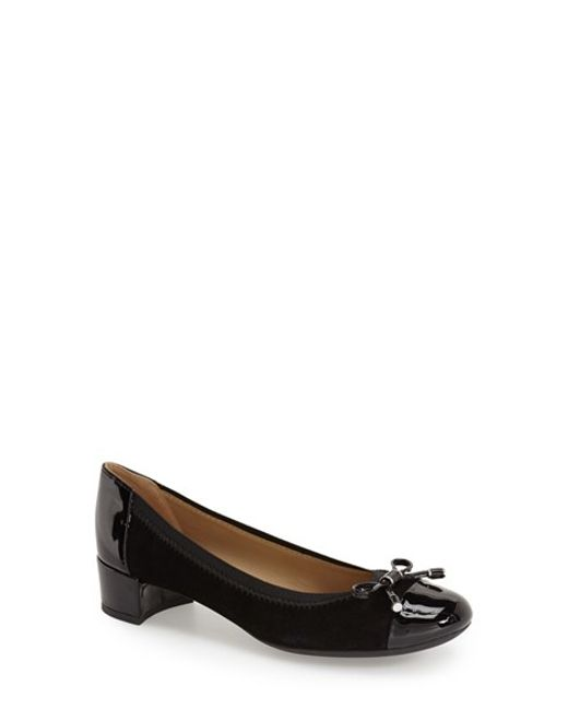 Geox | Black Carey 6 Suede and Patent-Leather Pumps | Lyst
