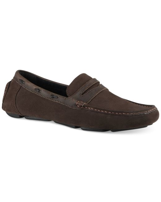 Marc New York | Brown Astor Penny Drivers for Men | Lyst