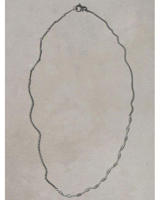 John Varvatos   Gray Asymmetric Silver Necklace for Men   Lyst