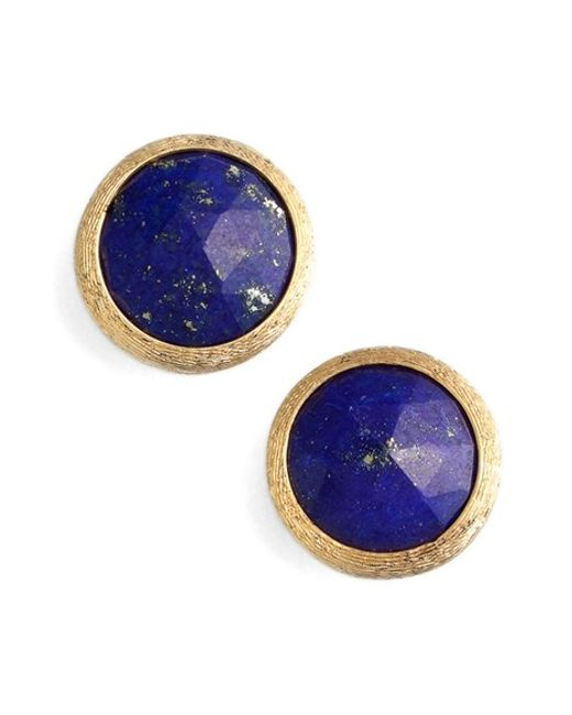Marco Bicego   Metallic 'jaipur' Stone Stud Earrings   Lyst