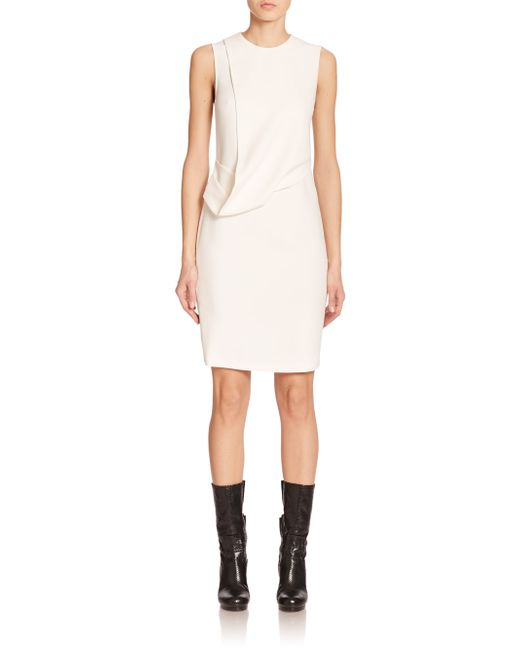 Calvin Klein | White Daina Drape-front Sheath | Lyst