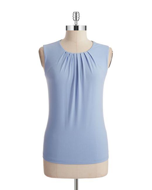 Calvin Klein | Blue Pintuck Shell | Lyst