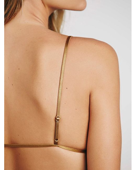Free People | Brown Essential Triangle Bra | Lyst