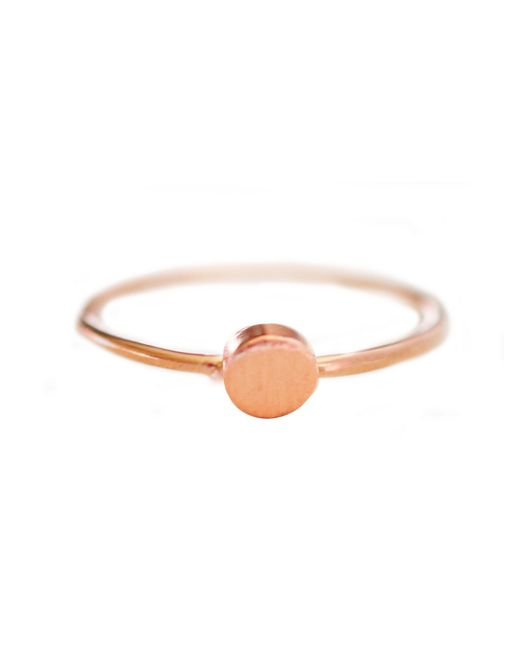 Cloverpost | Pink Mini Circle Ring | Lyst