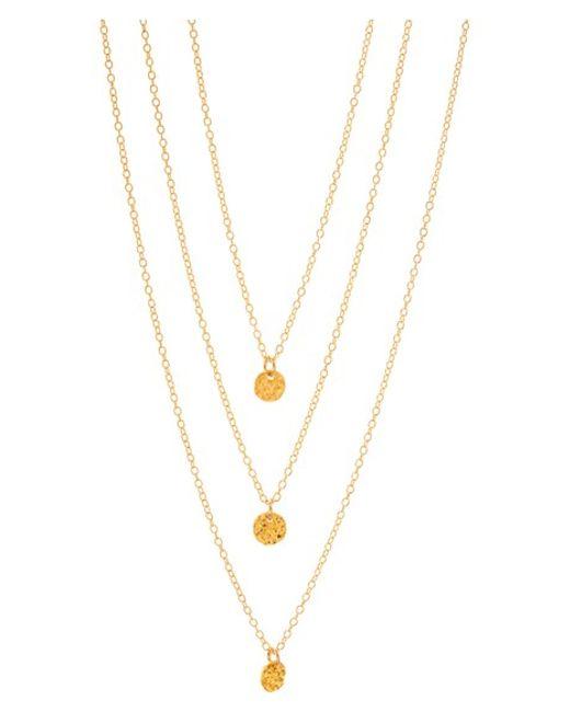 Gorjana | Metallic 3-disc Necklace | Lyst
