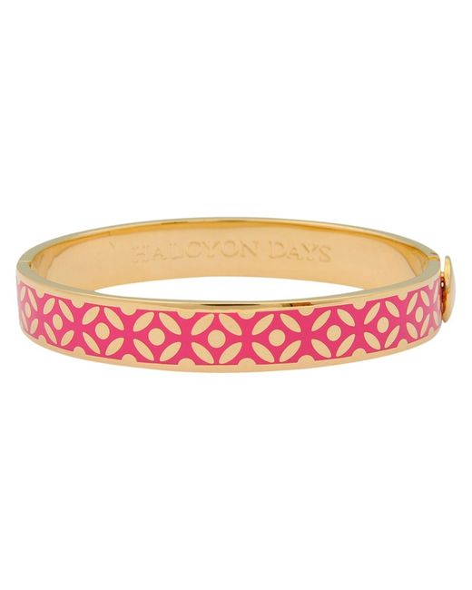 Halcyon Days | Pink Rose Bangle | Lyst