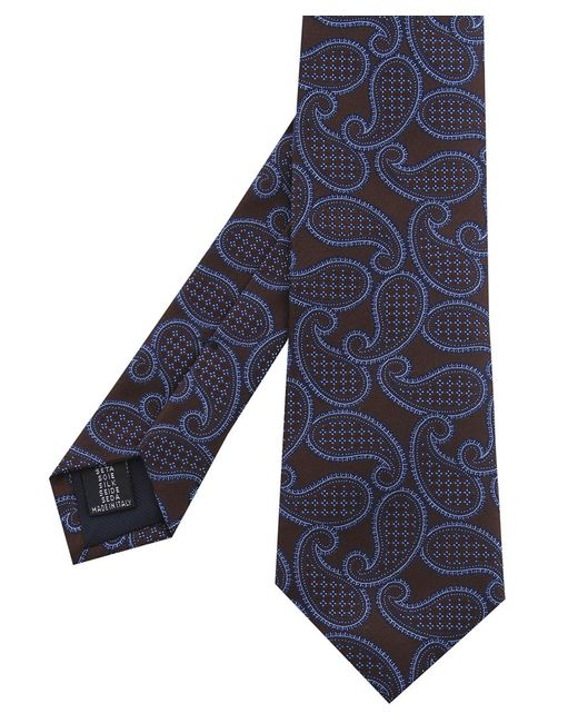 Corneliani | Blue Paisley Tie for Men | Lyst