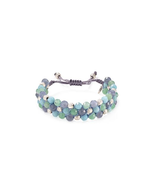 Chan Luu | Blue Triple Row Beaded Bracelet | Lyst