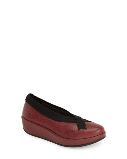 Fly London | Red Bobi Wedge Ballet Flats | Lyst